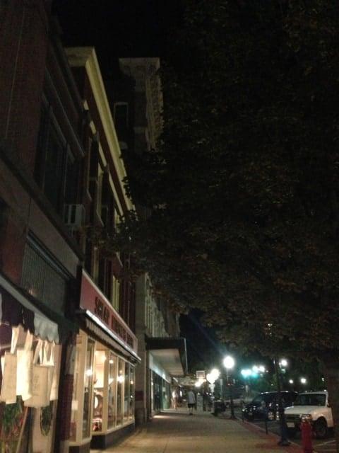 Downstreet Art lights North Adams' Main Street. Photo by Kate Abbott