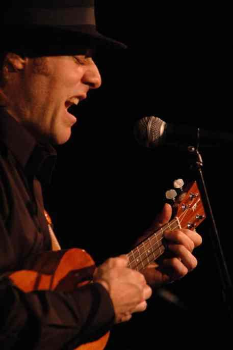 Stuart Fuchs plays ukulele. Photo courtesy of Stuart Fuchs.