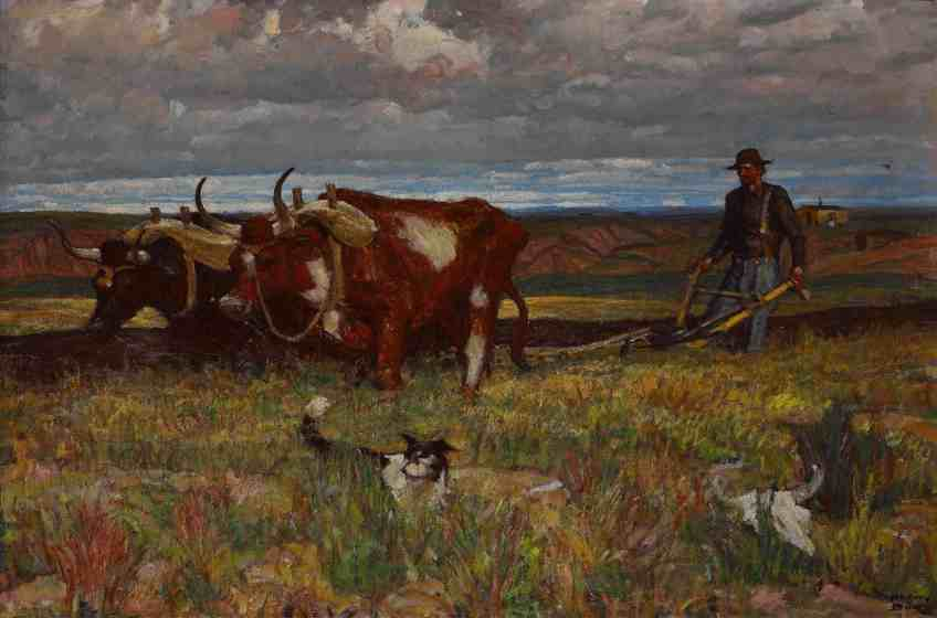 'Buffalo Bones are Plowed Under' by Harvey Dunn, courtesy of South Dakota Art Museum and Norman Rockwell Museum