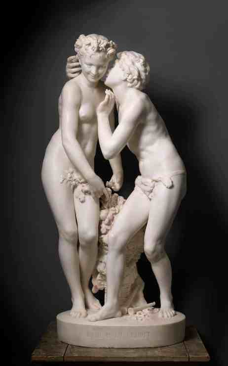 Daphnis and Chloe whisper in a sculpture at the Clark Art Institute. Photo courtesy of the Clark