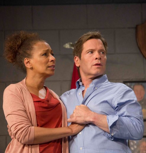 Tamara Tunie and Michael Hayden star in 'American Son' at Barrington stage Company in Pittsfield. Photo by Scott Barrow, courtesy of Barrington Stage Company