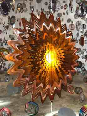 Bright shapes form a gilttering maze in 'Nick Cave's 'Until' — sunbursts ... or explosions? Photo by Kate Abbott