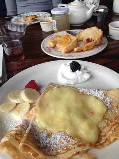 Sweet Crêpe with lemon curd at Pleasant and Main in Housatonic. Photo by Kate Abbott