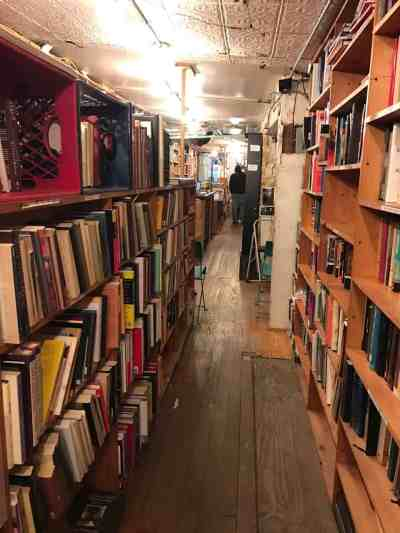 Poetry appears in daily places, including East Village Books on the lower east side. Photo by Kate Abbott