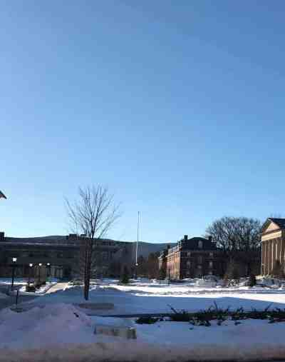 Williams College will invite poets to campus as the snow melts. Photo by Kate Abbott