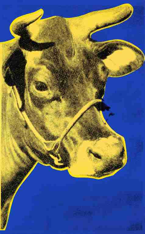 Andy Warhol's print of a cow gleams in primary colors. Photo courtesy of the Norman Rockwell Museum.