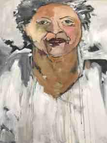 Ilene Spiewak's portrait inspired by novelist and Nobel Prize winner Toni Morrison. Photo by Kate Abbott