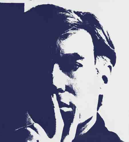 Andy Warhol's self portrait appears this summer in an exhibit at the Norman Rockwell Museum. Photo courtesy of NRM