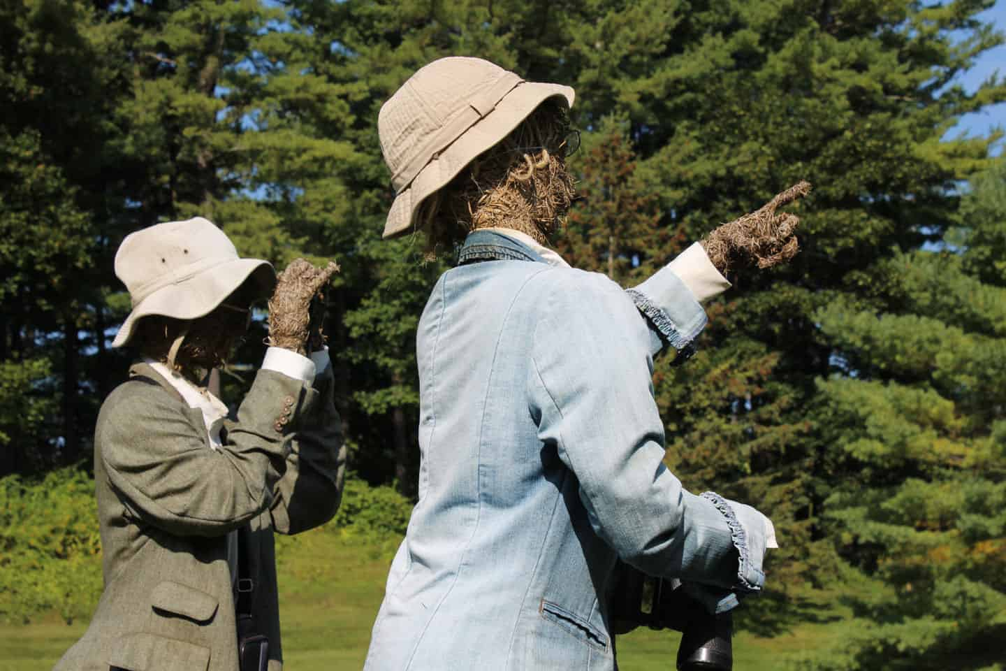 Bird Watchers look for migrating visitors (hint) on the grounds of a senior retirement community close to Route 20 Bypass. Photo by Thom Smith