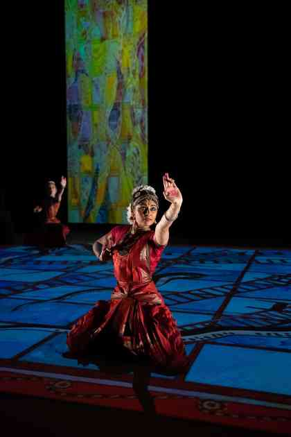 Ragamala Dance Company performs Written on Water at Jacob's Pillow Dance Festival. Photo courtesy of Chris Duggan