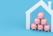 Bank Spaarvarkens in Huis