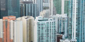 Onroerend Goed Flatgebouwen Wolkenkrabbers Vastgoed