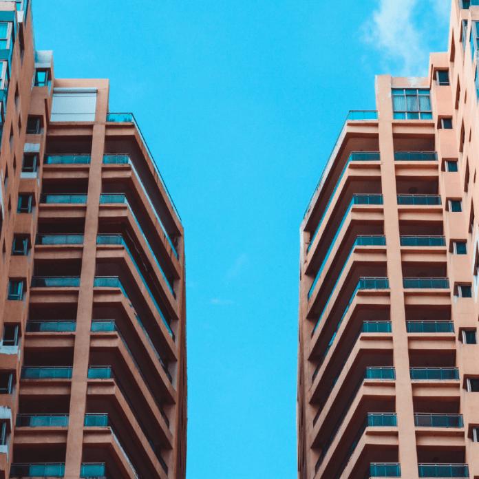 Onroerend Goed Flat Appartementen Onroerende Zaak Gebouw