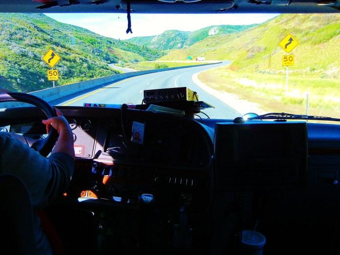 Vrachtwagenchauffeur Vrachtwagen Truck Bedrijf Weg