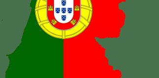 Portugese vlag in de vorm van Portugal