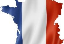 franse vlag in de vorm van de kaart van frankrijk