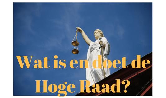 Wat is en doet de Hoge Raad?