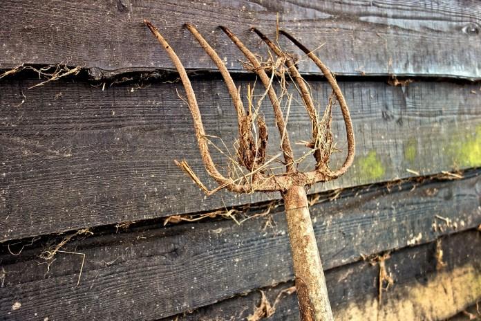 landbouw hooivork schuur