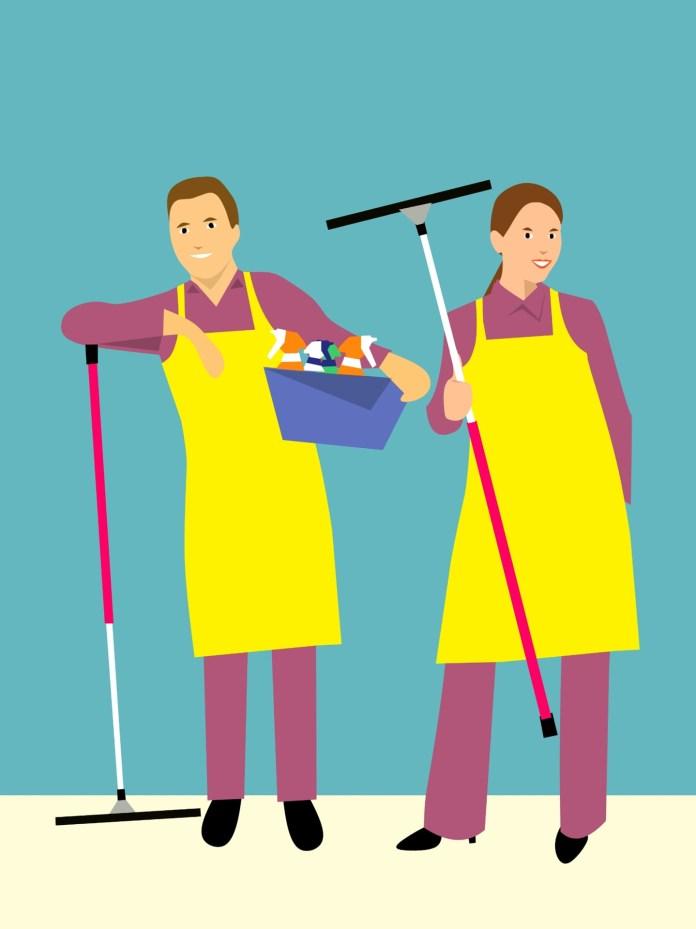 schoonmaak schoonmaken man en vrouw samen
