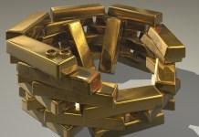 goud goudstaven edelmetaal schat gouden trouwringen