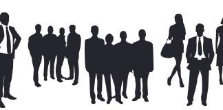 mensen werknemers personeel zakenmannen zakenvrouwen silhouetten