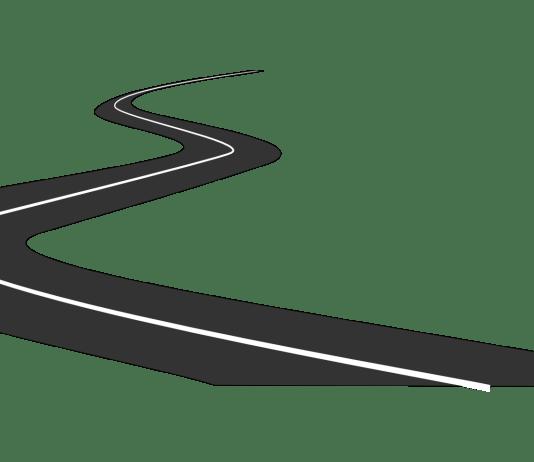 snelweg asfalt abstracte weergave