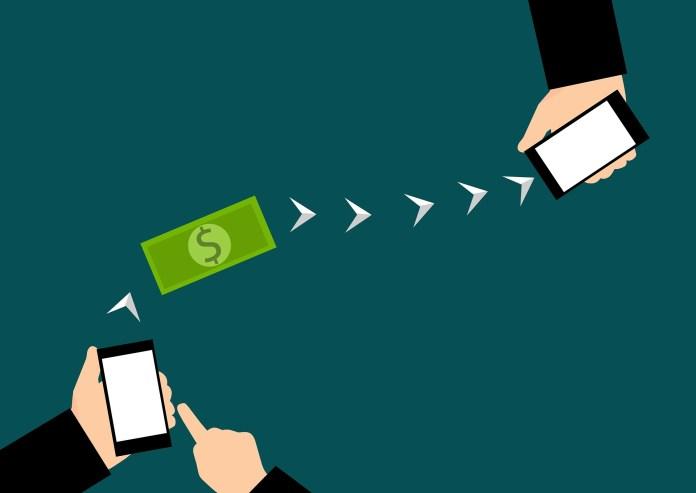 bankoverschrijving mobiel bankieren bancaire transactie tussen mobiele telefoons