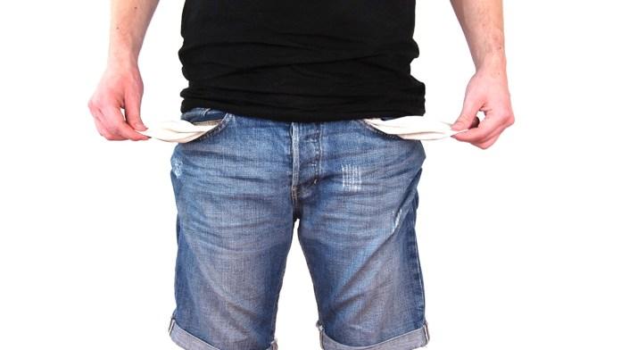geen geld niet betaling schuldenaar schulden