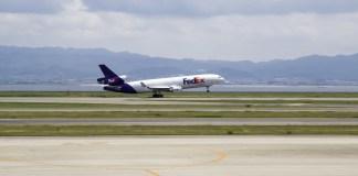 Fedex Vliegtuig Cargo Lucht Vliegtuigen Osaka
