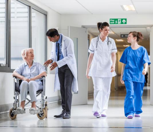Ziekenhuis Ziekenhuispersoneel en patient