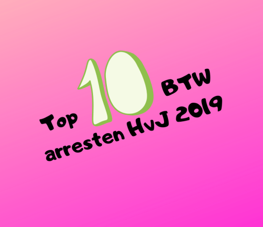Top 10 BTW arresten HvJ 2019