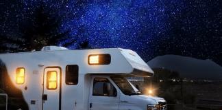 Camper kamperen sterrenhemel