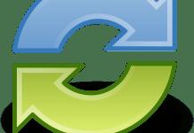 Heen en weer heen en terug Synchroniseren Sync Pijlen Cyclus Recycling Ronde