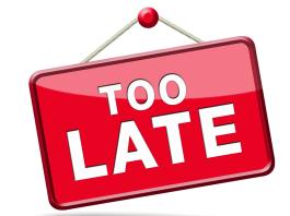 Too late te laat niet-ontvankelijk