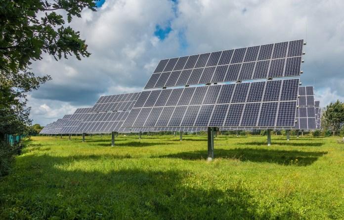 Fotovoltaïsch Systeem Zonne Zonne Energie Zonnepark