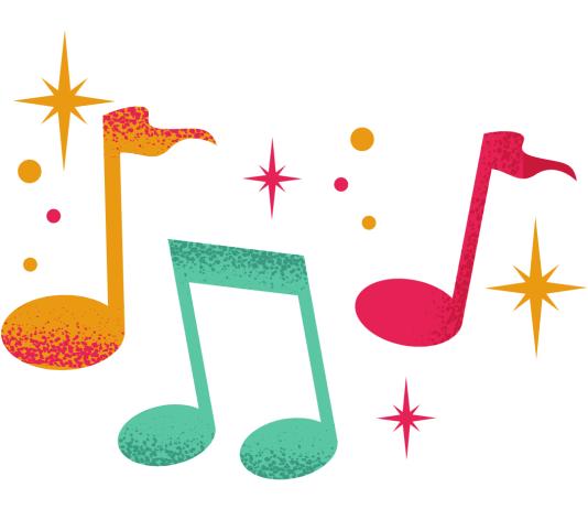 Muzieknoten muziek