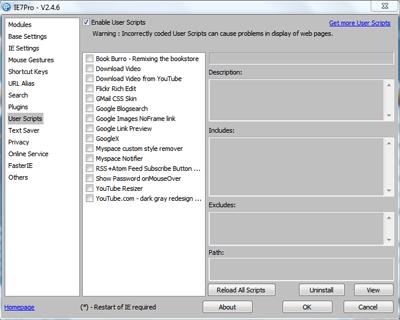Run Greasemonkey scripts in IE8