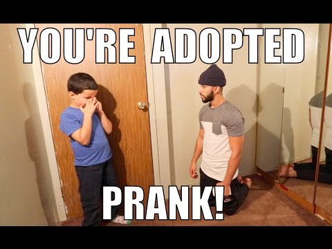 "Guy pulls off the ""You're Adopted"" Prank to younger brother."