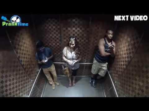 Farting in the Elevator Prank