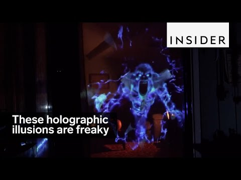 Freaky Holographic Illusions Takes Over Boring Halloween Decor