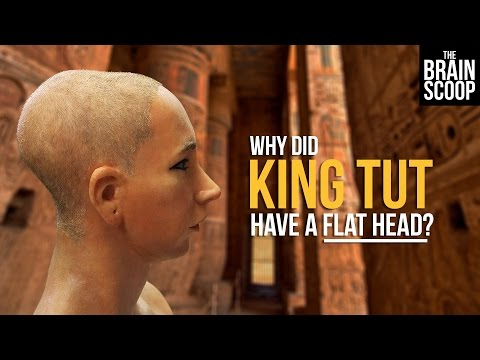 Why did King Tut have a flat head?
