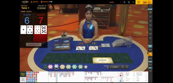 Bandar Memenangkan Ronde Permainan Live Casino Baccarat White Label