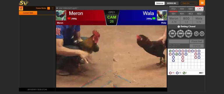 Tampilan permainan Sabung Ayam Online SV388 aplikasi White Label