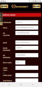Profil Akun di Handphone White Label