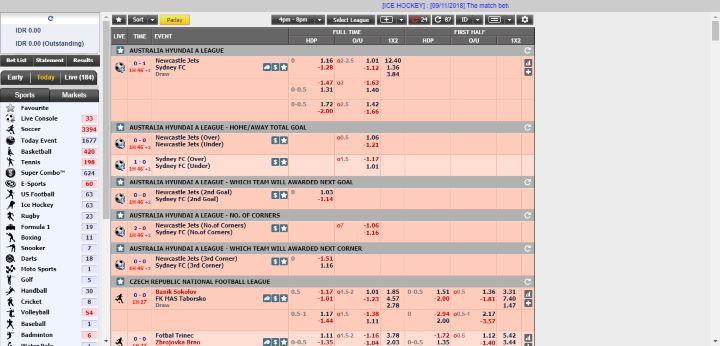 Tabel halaman Utama Winning FT White Label