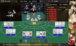Contoh Nilai Kartu yang di Adu di SunBet Live Casino