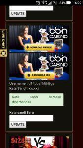 Update Password Mobile Casino Online Selesai