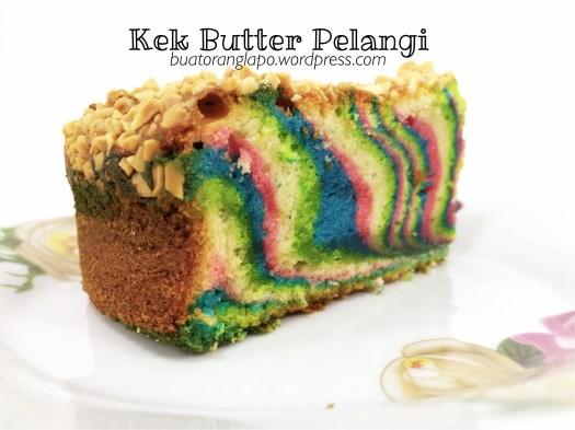 Kek Butter Pelangi