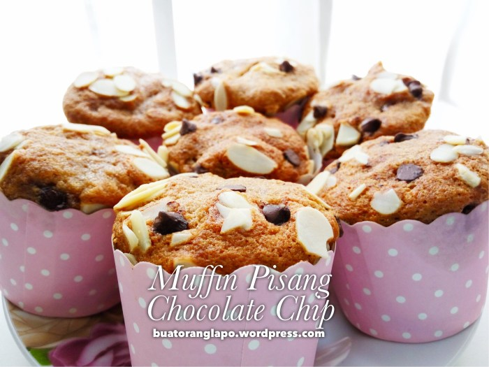 muffin pisang chocolate chip