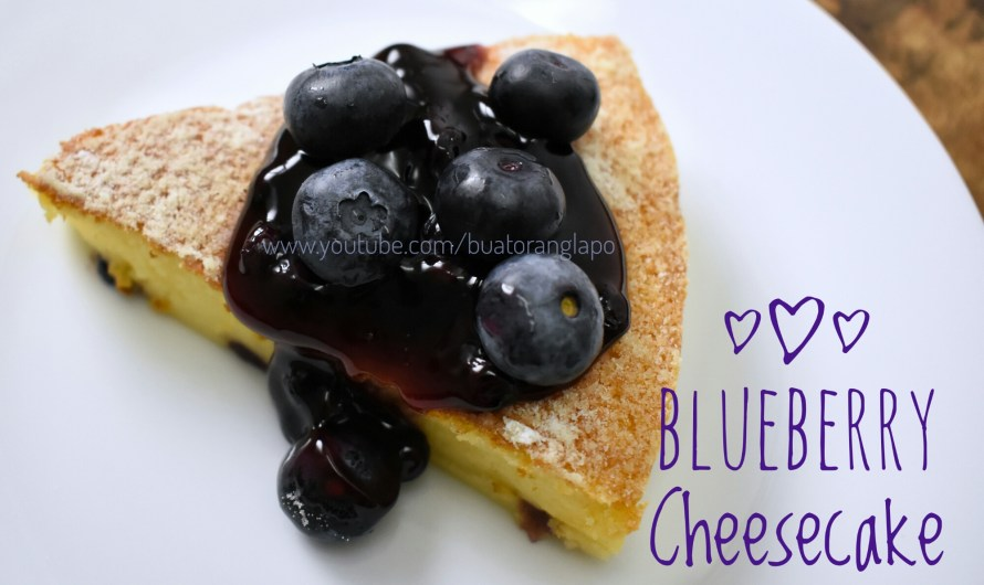 Blueberry Cheesecake (Kek Keju Blueberi)
